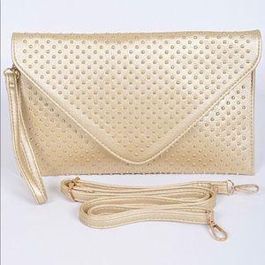 Handbags - Gold Studded Clutch